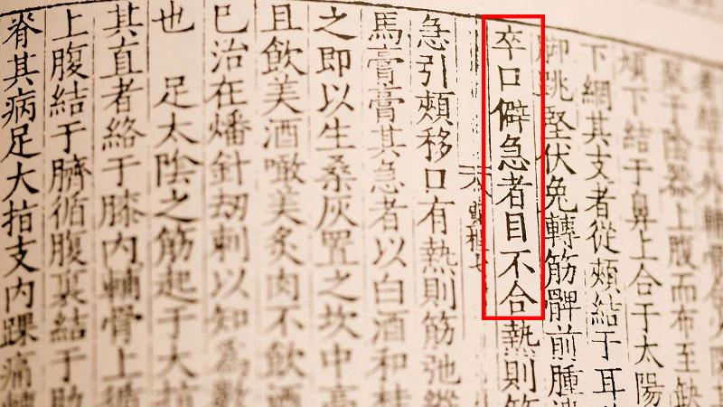 医学古典中に記載される顔面麻痺